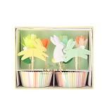 Cupcake kit, påskehare, 24 stk - Meri Meri