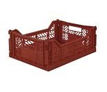Foldbar oppbevaringskasse Tile red 40x30 - Aykasa