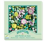 Grønne og rosa perler i tre - Djeco
