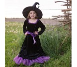 Heksekjole og hatt, 7-8 år, kostyme