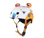 Hvit hjelm med monstre fra Micro, medium (52-56cm)