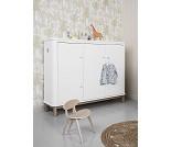 Hvitt/eik multiskap med 3 dører - Oliver Furniture