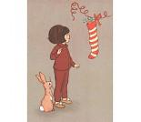 Julestrømpe, postkort