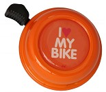 Oransje ringeklokke til sykkel og sparkesykkel