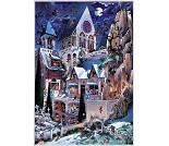 Puslespill med spøkelseshus, 2000 brikker