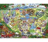 Puslespill med fornøyelsespark, 1000 brikker