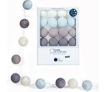 Blåtoner, lyslenke med 16 baller