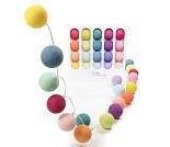 Multifarger, lyslenke med 20 baller