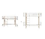 Ombygg Wood, hvit eik, halvhøy seng til køyeseng