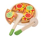 Pizza, lekemat i tre