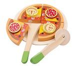 Pizza salami, pizzasett i tre