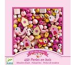 Rød og rosa perler i tre - Djeco