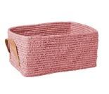 Rosa oppbevaringskurv, 32x23 cm - Rice
