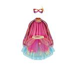 Rosa superheltdrakt, 4-6 år kostyme