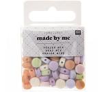 Runde perler i pastellfarger, 165 stk