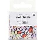 Runde perler med bokstaver i pastellfarger, 165stk