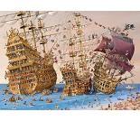 Puslespill med skip, 1000 brikker