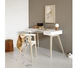 Wood skrivebord med to skuffer - Oliver Furniture