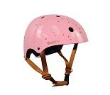 Rosa hjelm med stjerner, small (48-54 cm)