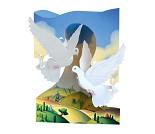 3D-postkort med duer