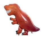 Folieballong, rød dinosaur - Meri Meri
