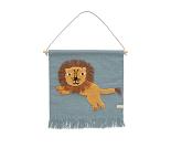 Veggteppe med løve - OYOY