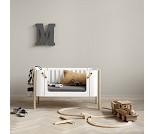 Wood benk, hvit/eik - Oliver Furniture