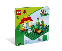 LEGO DUPLO Stor, grønn byggeplate 2304