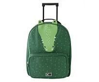 Grønn trillekoffert med krokodille - Trixie