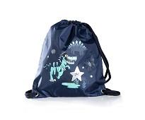 Blå gympose med dinosaur - Frii of Norway