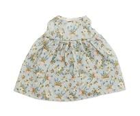 Kjole med blomster, dukkeklær 38-41cm - By Astrup