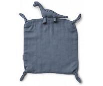 Blå koseklut med dinosaur - Liewood