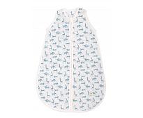 Blå sovepose med dyr, 0-6 mnd - Moulin Roty