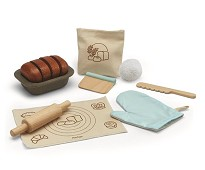 Bakesett til brød, lekemat i tre - PlanToys