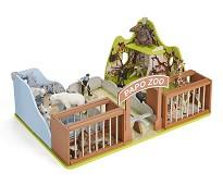 Dyrepark i solid kartong - Papo