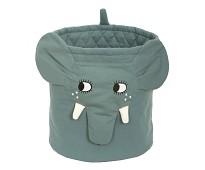 Blå oppbevaringskurv med elefant - Roommate