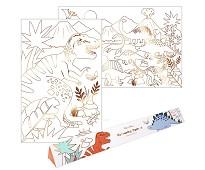 Fargeleggingsplakat, dinosaurer 2pk - Meri Meri