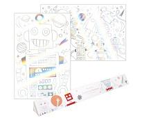 Fargeleggingsplakat, roboter 2pk - Meri Meri