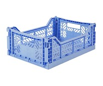 Foldbar oppbevaringskasse Baby blue 40x30 - Aykasa