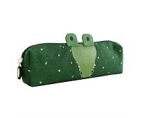 Grønt posepennal med krokodille - Trixie
