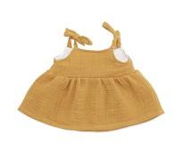 Gul kjole, dukkeklær 38-41cm - By Astrup