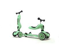 Lysegrønn sparke- og sittesykkel fra Scoot & Ride