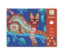 Katt og skilpadde, mosaikksett - Djeco