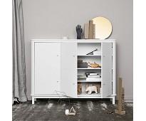 Hvitt multiskap med 3 dører - Oliver Furniture