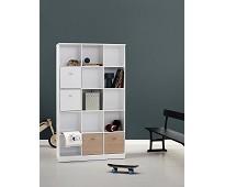 Hylle 3x5 med sokkel, Wood - Oliver Furniture