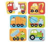 Kjøretøy, minipuslespill i tre