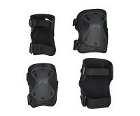 Kne- og albuebeskytter i svart, M - Micro