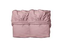 Dus rosa laken til babyseng, 2 stk - Leander