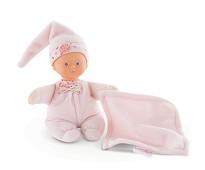 Lyserosa dukke med koseklut - Corolle