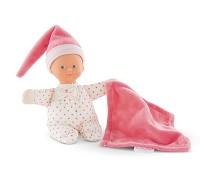 Rosa dukke med koseklut - Corolle